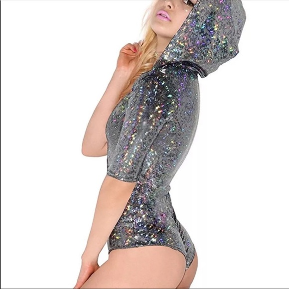 Sequin Embellished Fishnet Festival Stockings Rave Clubbing Coachella